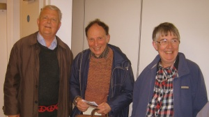 Bruce Kent with Members of Hall Green CND