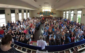 In this hall in Coventry this summer there were people who went to those 1980s CND rallies sitting with many people who had not then even been born ...