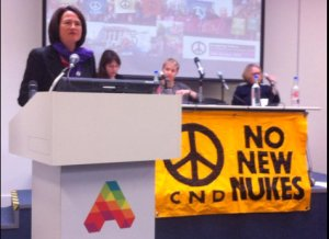 Catherine West speaking at CND15