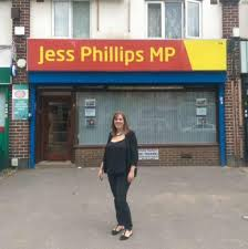 Jess Phillips outside Office